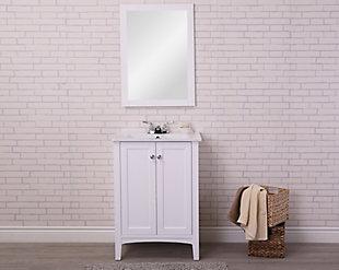 "Mod 24"" Single Bathroom Vanity Set, White, rollover"