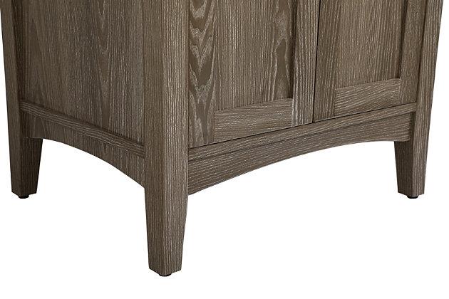"""Xylem  24"""" Single Bathroom Vanity Set, Weathered Oak, large"""
