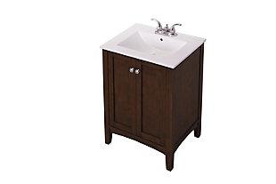 "Mod 24"" Single Bathroom Vanity Set, Antique Coffee, large"