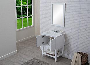 """Mason 2 Door Cabinet 24"""" x 18"""" x 34"""", White, large"""