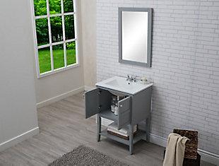 "Mason 2 Door Cabinet 24"" x 18"" x 34"", Gray, large"