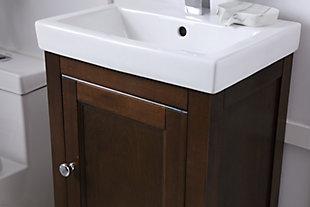 """Saturn 18"""" Single Bathroom Vanity Set, Antique Coffee, large"""