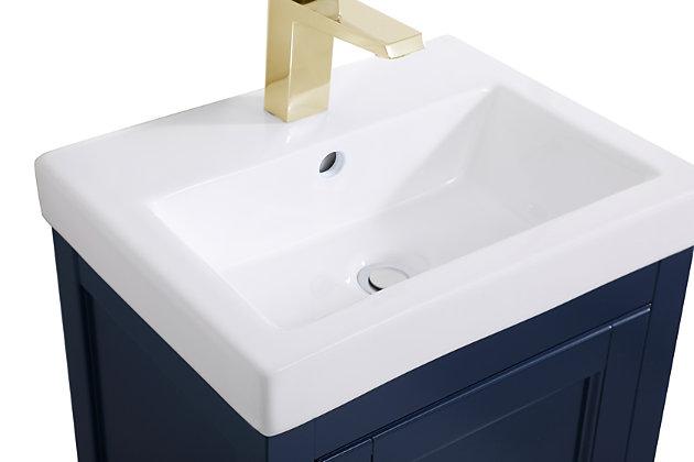 "Saturn  17.5"" Bathroom Vanity, Blue, large"