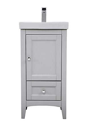 """Saturn  18"""" Single Bathroom Vanity Set, Gray, large"""
