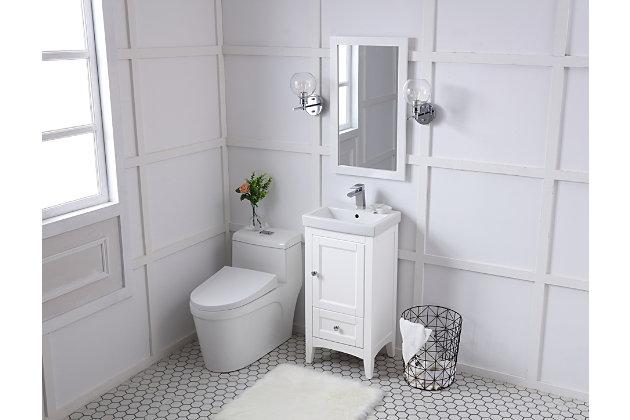 """Saturn 18"""" Single Bathroom Vanity Set, White, large"""