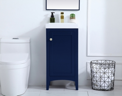 """Mod 17.5"""" Bathroom Vanity, Blue, large"""