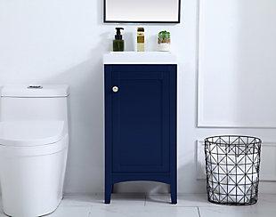 "Mod 17.5"" Bathroom Vanity, Blue, rollover"