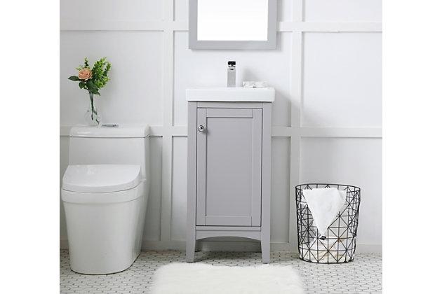 """Mod 18"""" Single Bathroom Vanity Set, Gray, large"""