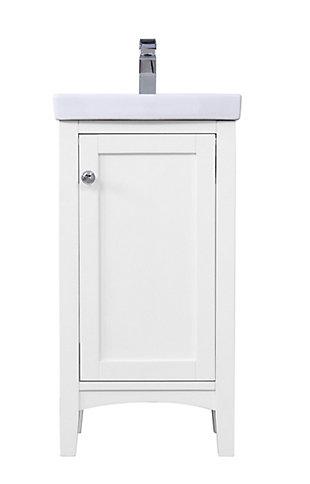 """Mod 18"""" Single Bathroom Vanity Set, White, large"""