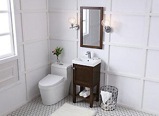 "Mason 18"" Single Bathroom Vanity Set, Antique Coffee, large"