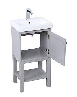 "Mason 18"" Single Bathroom Vanity Set, Gray, large"