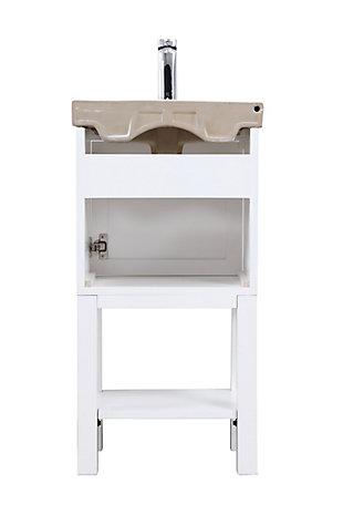 """Mason 18"""" Single Bathroom Vanity Set, White, large"""