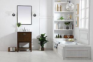 "Shaker 24"" Single Bathroom Vanity Set, Antique Coffee, large"