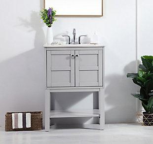 "Shaker 24"" Single Bathroom Vanity Set, Gray, rollover"