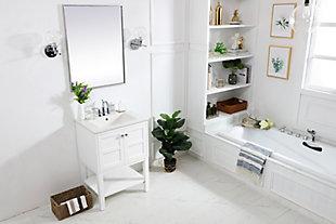 "Shaker 24"" Single Bathroom Vanity Set, White, large"