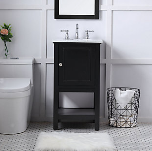 "Metropolis  19"" Single Bathroom Vanity Set, Black, rollover"