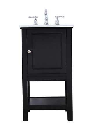 "Metropolis  19"" Single Bathroom Vanity Set, Black, large"