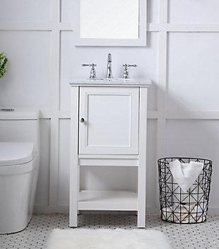 "Metropolis  19"" Single Bathroom Vanity Set, White, rollover"