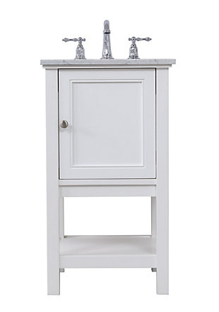 "Metropolis  19"" Single Bathroom Vanity Set, White, large"
