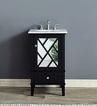 "Kinney 21""Single Bathroom Vanity Set, Black, rollover"