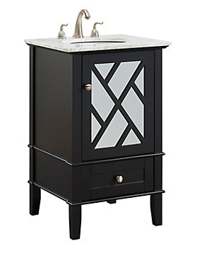 "Kinney 21""Single Bathroom Vanity Set, Black, large"