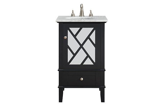 """Kinney 21""""Single Bathroom Vanity Set, Black, large"""