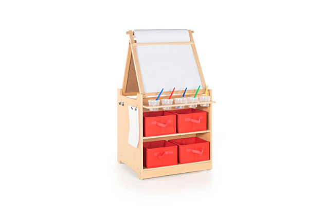Kids Desk to Easel Art Cart, , large