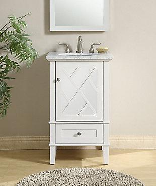 """Kinney 21"""" Single Bathroom Vanity Set, White, rollover"""