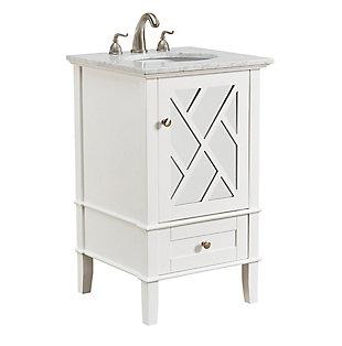 """Kinney 21"""" Single Bathroom Vanity Set, White, large"""