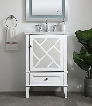 """Kinney 24"""" Single Bathroom Vanity Set, White, rollover"""
