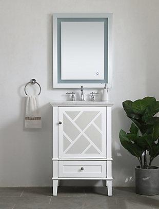 """Kinney 24"""" Single Bathroom Vanity Set, White, large"""