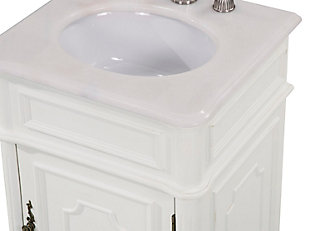 "Retro 21"" Single Bathroom Vanity Set, Antique White, large"