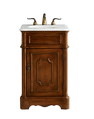 "Retro 21"" Single Bathroom Vanity Set, Teak, large"