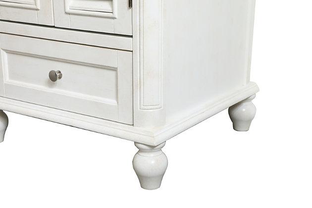 "Rhodes 19"" Single Bathroom Vanity, Antique White, large"