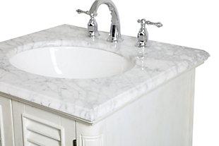"Rhodes 24"" Single Bathroom Vanity, Antique White, large"