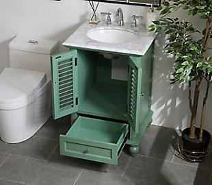 "Rhodes 24"" Single Bathroom Vanity, Vintage Mint, large"