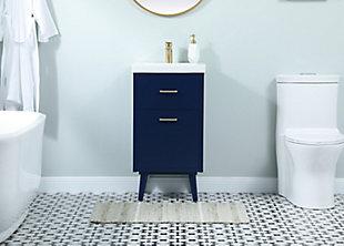 "Boise  18"" Bathroom Vanity, Blue, large"