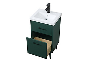 """Boise  18"""" Bathroom Vanity, Green, large"""
