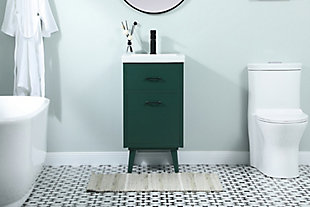 "Boise  18"" Bathroom Vanity, Green, rollover"