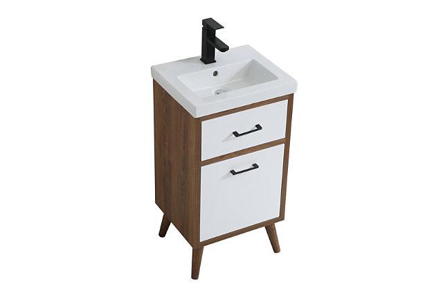 """Boise  18"""" Bathroom Vanity, Matte White, large"""