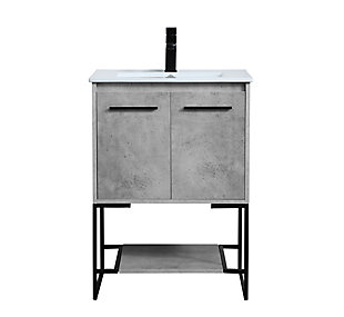 "Gerard  24""  Single Bathroom Vanity, Concrete Gray, large"