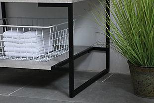 "Gerard 24""  Single Bathroom Vanity, Concrete Gray, large"