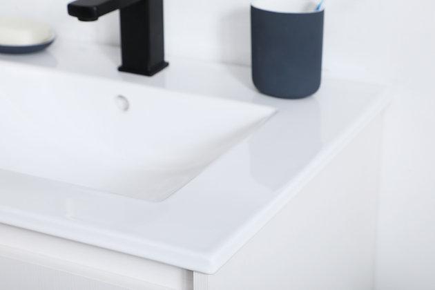 "Gerard  24""  Single Bathroom Vanity, White, large"