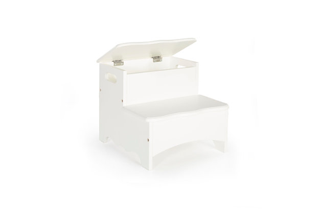 Home Accents White Storage Step-Up, , large