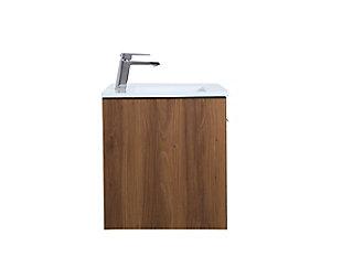 "Kasper  24""  Single Bathroom Floating Vanity, Walnut Brown, large"
