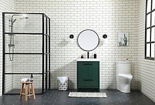 """Wyatt 24"""" Single Bathroom Vanity, Green, large"""