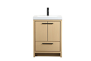 "Wyatt 24"" Single Bathroom Vanity, Maple, large"