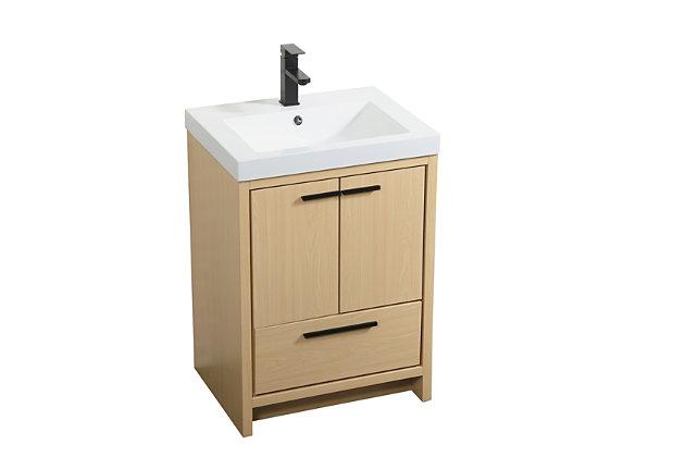"""Wyatt 24"""" Single Bathroom Vanity, Maple, large"""