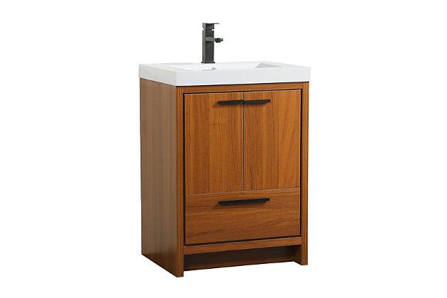 """Wyatt 24"""" Single Bathroom Vanity, Teak, large"""