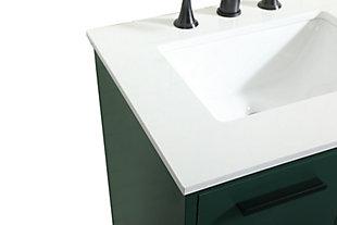 "Baldwin 24"" Bathroom Vanity, Green, large"